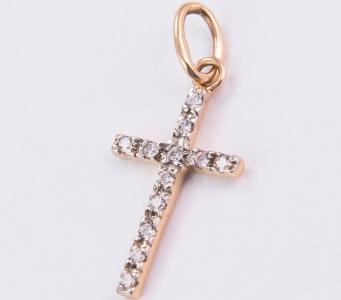 сколько стоит маленький золотой крестик