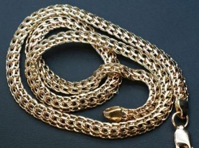 Королевский бисмарк - цепочка из желтого золота